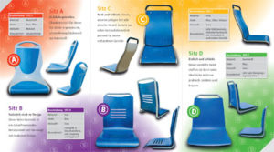 LVB Sitztest: Schriftliche und persönliche Befragung nach dem Live-Test von vier neuen Sitzvarianten für Fahrzeuge der LVB, Wahl des beliebtesten Sitzes